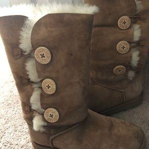 High cut UGG boots